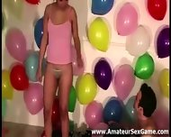 Balloon Game For Group Of Amateurs At Party - scene 4