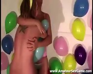 Balloon Game For Group Of Amateurs At Party - scene 6