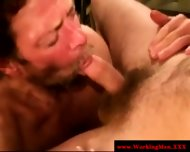 Straight Mature Bear Takes Big Facial - scene 3