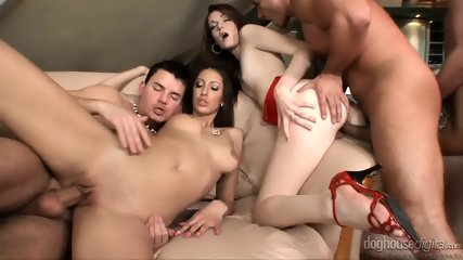 Orgy With Three Amazing Babes - scene 9