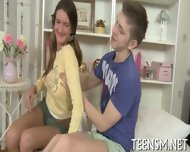 Chubby Teen Rides Erect Shaft - scene 1