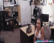 Busty Latina Slut At The Backroom For Some Cash - scene 2