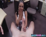 Busty Latina Slut At The Backroom For Some Cash - scene 4