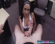 Busty Latina Slut At The Backroom For Some Cash - scene 5