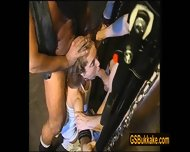 Amateur Slut Kathy Blows And Is Pissed On By A Group Of Guys - scene 5