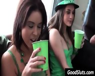 Girls In Green Get Naked - scene 1