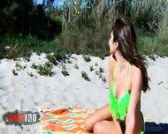 Brunette Gets Fucked On The Beach - scene 1