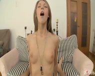 Anal With Horny Teen On Little Sofa - scene 11