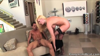 Sexy Blonde With Stockings Enjoys Hardcore Penetration - scene 9