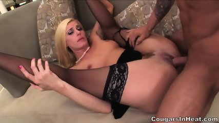Sexy Blonde With Stockings Enjoys Hardcore Penetration - scene 4