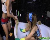 Fully Clothed Babes Having A Crazy Time - scene 9