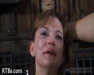 Beauty Is Stripping Inside Cage - scene 7