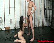 Real Lesbian Student Handling Strapon - scene 9