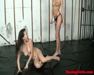 Real Lesbian Student Handling Strapon - scene 10