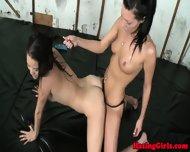 Real Lesbian Student Handling Strapon - scene 11