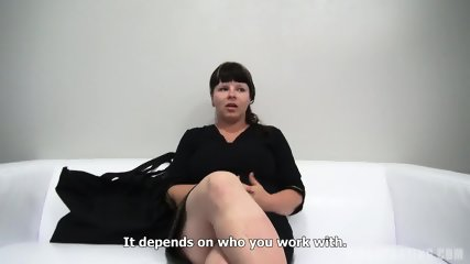 Busty European Amateur Zdena Sucks Dick At The Casting - scene 2