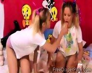 Kinky Teen Play Naughty Role Games Wearing Diapers - scene 7