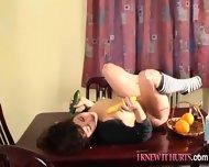 Horny Slut Fucks Some Fruit - scene 1