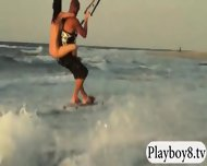 Big Boobs Hotties Try Out Kite Boarding With The Professionals - scene 8