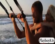 Big Boobs Hotties Try Out Kite Boarding With The Professionals - scene 9