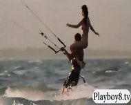 Big Boobs Hotties Try Out Kite Boarding With The Professionals - scene 12