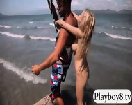 Big Boobs Hotties Try Out Kite Boarding With The Professionals - scene 4