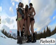 Badass Babes Enjoyed Kooter Kiting And Snowboarding Naked - scene 8