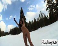 Badass Babes Enjoyed Kooter Kiting And Snowboarding Naked - scene 9