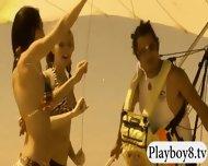 Badass Babes Enjoyed Kooter Kiting And Snowboarding Naked - scene 10