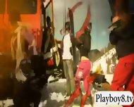 Badass Babes Enjoyed Kooter Kiting And Snowboarding Naked - scene 7