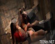 Teen Sluts Gets A Huge Cock - scene 7