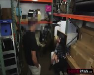 Lesbian Couple Selling A Moose Head Gets Fucked In The Storage Room - scene 5