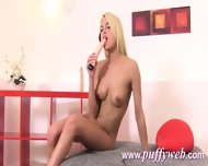 Blonde Pumping Her Pussy And Pees - scene 11