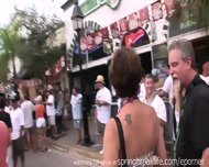 Flashing At Daytime Street Party - scene 7