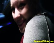 Blonde Hitchhiking Teen Drools On Cock - scene 2