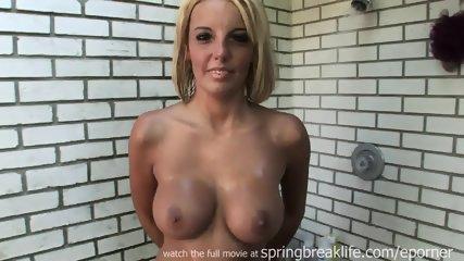 Outdoor Shower Masturbation - scene 3