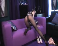 Hottie With Tight Pantyhose In Solo Action - scene 5