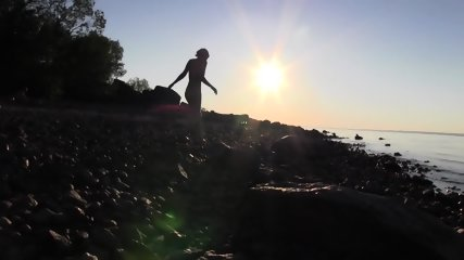 Beautiful Teen Filmed On The Beach - scene 9