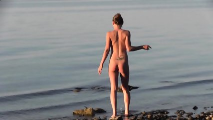 Beautiful Teen Filmed On The Beach - scene 1