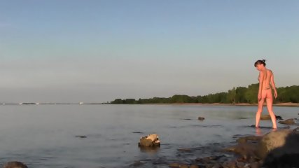 Beautiful Teen Filmed On The Beach - scene 3