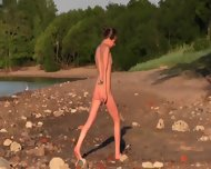 Beautiful Teen Filmed On The Beach - scene 4