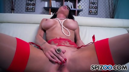 Big Titty Slut Rubs Cunt - scene 7