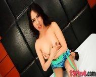Cute Teen Shemale Poppy Handjobs Her Hard Dick To Orgasm - scene 3