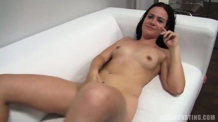 Amateur Brunette Sarka Takes Dick - scene 7