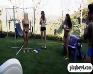 Sexy House Guests Having Fun Playing Games With Hunk Dudes - scene 9