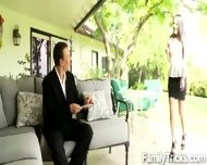 Horny Perv Has An Affair With His Gorgeous Stepdaughter - scene 3
