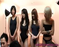 Japanese Swimsuit Babes In Orgy - scene 1