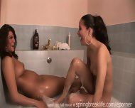 2 Girls Playing In A Tub - scene 11