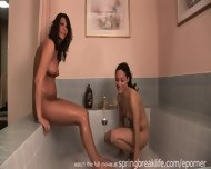 2 Girls Playing In A Tub - scene 7