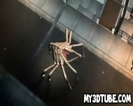 3d Babe Gets Double Teamed By Some Alien Spiders - scene 1